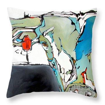 Number 17 Longhorn Steer Throw Pillow