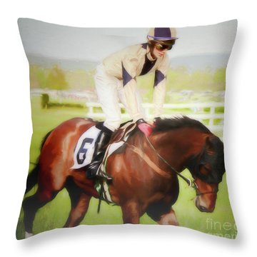 Throw Pillow featuring the photograph Number 6 by Ola Allen