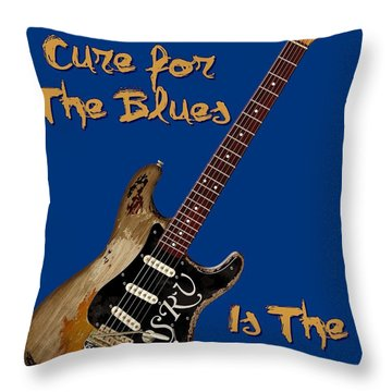Number One Cure Shirt Throw Pillow by WB Johnston