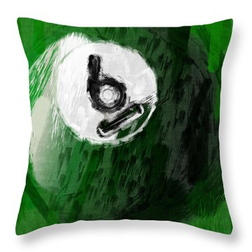 Number Six Billiards Ball Abstract Throw Pillow by David G Paul