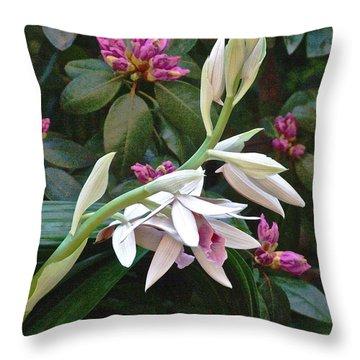 Nun Orchid Throw Pillow