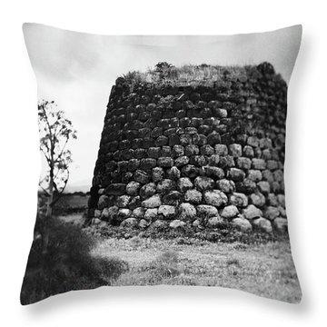 Nuraghe Tower Sardinia Throw Pillow