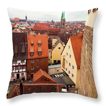 Nuremberg Cityscape Throw Pillow
