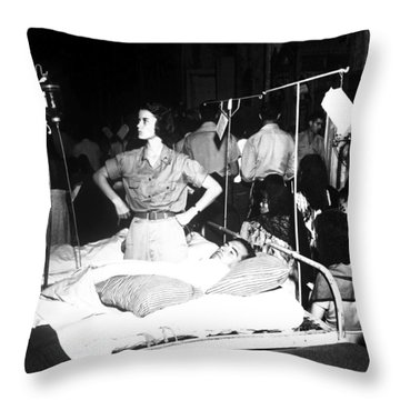 Nurse Adjusts Glucose Injection Throw Pillow by Stocktrek Images