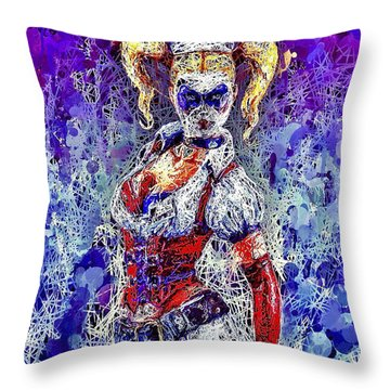 Nurse Harley Quinn Throw Pillow