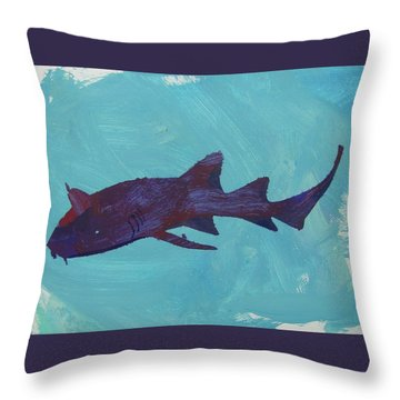 Throw Pillow featuring the painting Nurse Shark by Candace Shrope