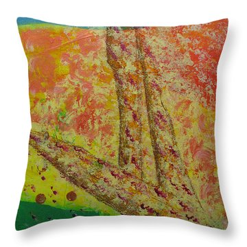 Nurture Throw Pillow by Mini Arora