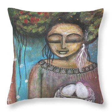 Nurture Nature Throw Pillow