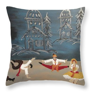 Nutcrackers Dance Of Russian Cossacks Throw Pillow