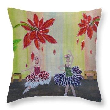 Nutcrackers Waltz Of The Flowers Throw Pillow