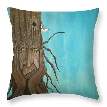 Nuthatch Throw Pillow