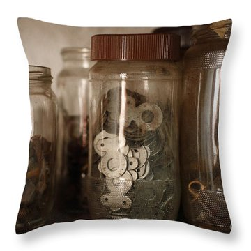 Nuts And Bolts Throw Pillow by Gaspar Avila
