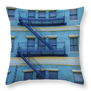 Throw Pillow featuring the photograph Ny 1936 by Marie Leslie