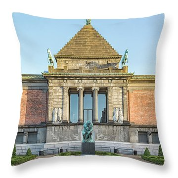 Throw Pillow featuring the photograph Ny Carlsberg Glyptotek In Copenhagen by Antony McAulay