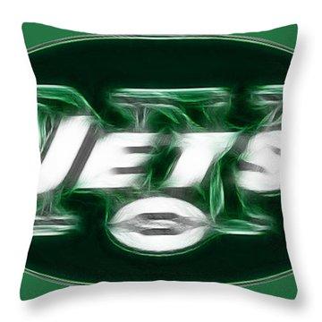 Ny Jets Fantasy Throw Pillow