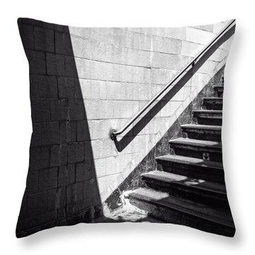 Ny Subway Stairs Throw Pillow