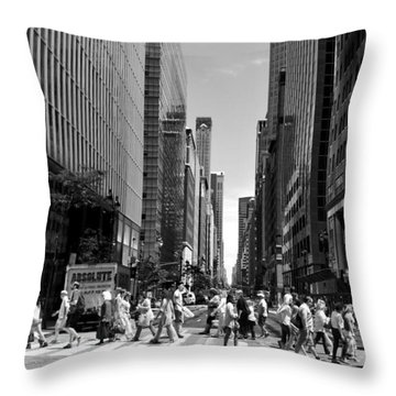 Nyc 42nd Street Crosswalk Throw Pillow