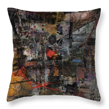 Nyc Abstract Throw Pillow