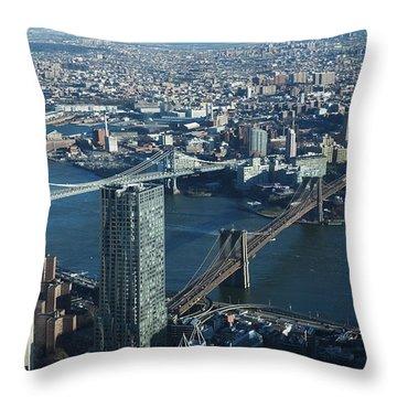 Nyc Bridges Throw Pillow
