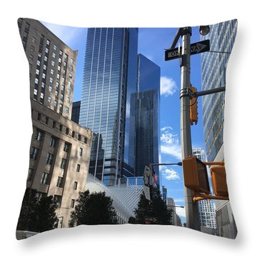 Nyc Day Throw Pillow