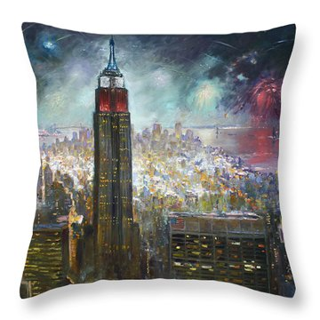 Nyc. Empire State Building Throw Pillow