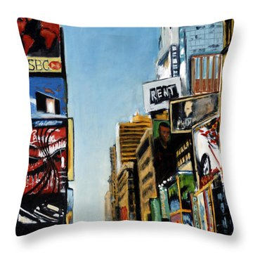 Nyc IIi Cab Dodging Throw Pillow