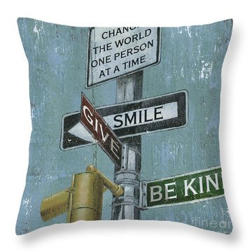 Street Scenes Throw Pillows