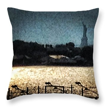 #nyc #newyork #ig #liberty #picoftheday Throw Pillow