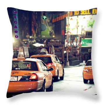 New York City Night Drive Throw Pillow