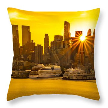 Nyc Ports Throw Pillow