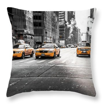 Nyc Taxi Throw Pillow