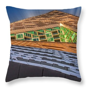 Throw Pillow featuring the photograph Nyc West 57 St Pyramid by Susan Candelario