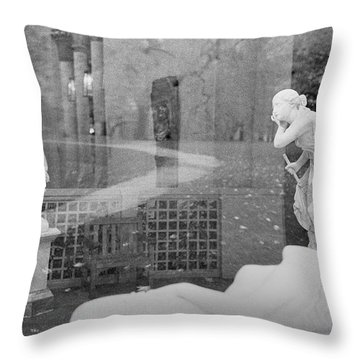 Nyc Whispering Statues Throw Pillow
