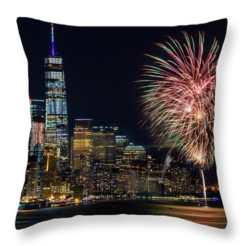 Throw Pillow featuring the photograph Nyc World Trade Center Pride by Susan Candelario