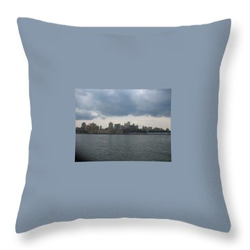 Nyc4 Throw Pillow by Donna Andrews
