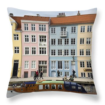 Nyhavn Pastels Throw Pillow