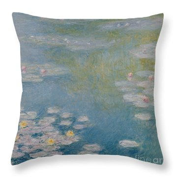 Nympheas At Giverny Throw Pillow by Claude Monet