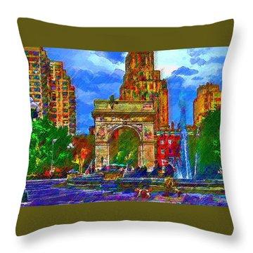 NYU Throw Pillow