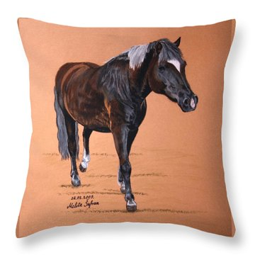 Nyx Throw Pillow by Melita Safran
