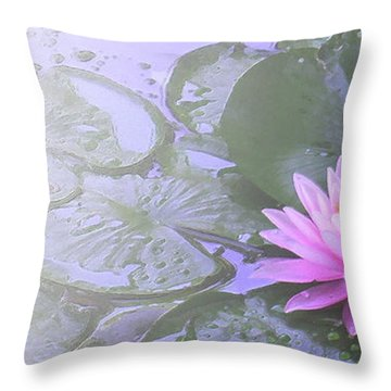 Nz Lily Throw Pillow
