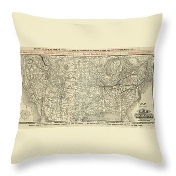 O And M Map Throw Pillow