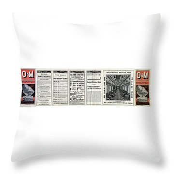O And M Timetable Throw Pillow