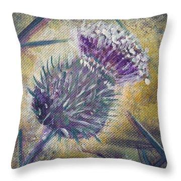 O' Flower Of Scotland Throw Pillow