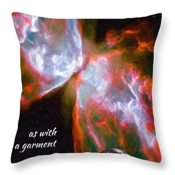 O God, You Are Wrapped In Light Throw Pillow