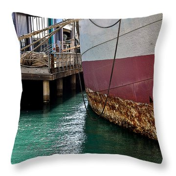 Throw Pillow featuring the photograph Oahu Harbor by Gina Savage