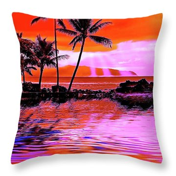 Oahu Island Throw Pillow