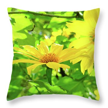Oahu Sunshine Throw Pillow