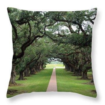 Oak Alley Throw Pillow
