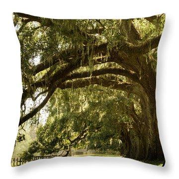Oak And Moss Throw Pillow