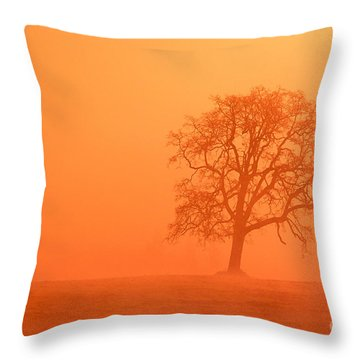 Oak At Sunrise Throw Pillow by Greg Vaughn - Printscapes